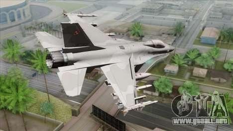 F-16C Jastrzab para GTA San Andreas left