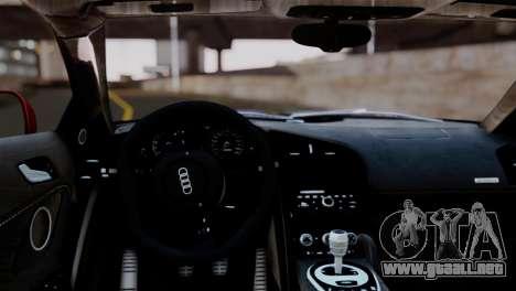 Audi R8 V10 v1.0 para la visión correcta GTA San Andreas