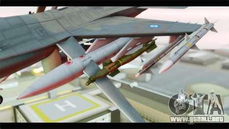 F-16C Hellenic Air Force para la visión correcta GTA San Andreas