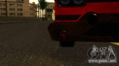 GTA 5 Declasse Tornado Worn IVF para GTA San Andreas vista hacia atrás