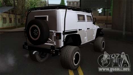 Jeep Wrangler 2013 Fast & Furious Edition para GTA San Andreas left