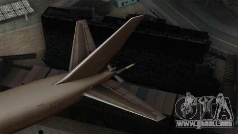 Boeing KC-767 Japan Air Self-Defense Force para GTA San Andreas vista posterior izquierda