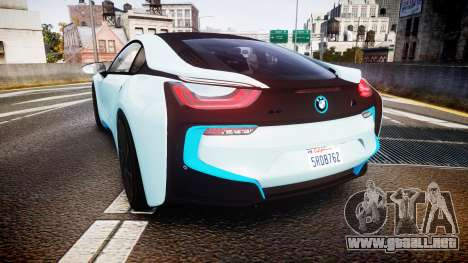 BMW i8 2013 para GTA 4 Vista posterior izquierda