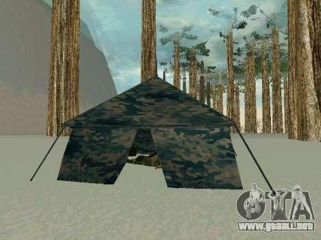 Tienda de campaña para GTA San Andreas segunda pantalla
