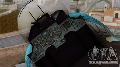 SU-33 Flanker-D Blue Camo para GTA San Andreas vista hacia atrás