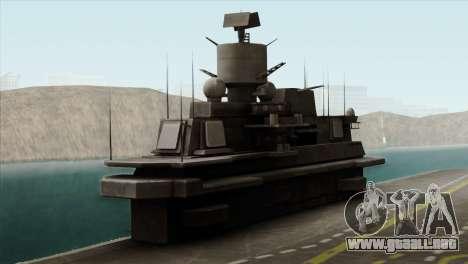 Admiral Kuznetsov Class para GTA San Andreas vista hacia atrás