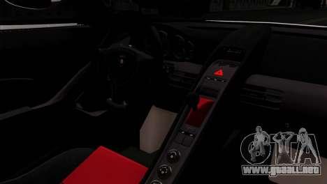 Gemballa Mirage GT v2 Windows Up para GTA San Andreas vista posterior izquierda