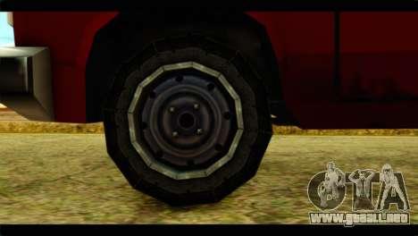 Bobcat Technical Pickup para GTA San Andreas vista posterior izquierda