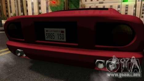 Bullet PFR v1.0 para GTA San Andreas vista hacia atrás