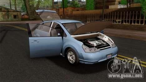 GTA 5 Karin Dilettante SA Mobile para GTA San Andreas vista hacia atrás