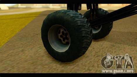 Monster Regina para GTA San Andreas vista posterior izquierda