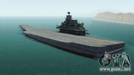 Admiral Kuznetsov Class para GTA San Andreas left