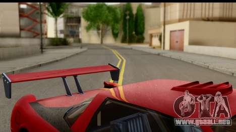 Tuned Infernus para GTA San Andreas vista posterior izquierda