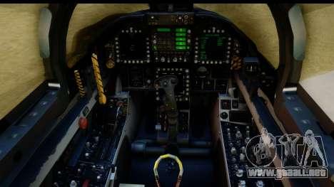 FA-18D VFA-103 Jolly Rogers para GTA San Andreas vista hacia atrás