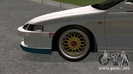 Honda Integra Type R 2000 para GTA San Andreas vista hacia atrás