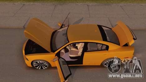 Dodge Charger SRT8 2012 Stock Version para visión interna GTA San Andreas