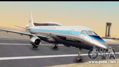 Embraer 175 PLL LOT Retro para GTA San Andreas