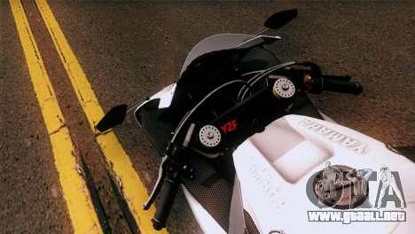 Yamaha YZF-R1 para GTA San Andreas vista posterior izquierda