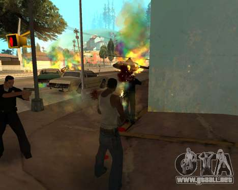 Rainbow Effects para GTA San Andreas segunda pantalla