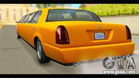 GTA 5 Dundreary Stretch para GTA San Andreas left