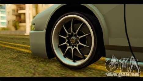 Infernus Rapide S para GTA San Andreas vista posterior izquierda