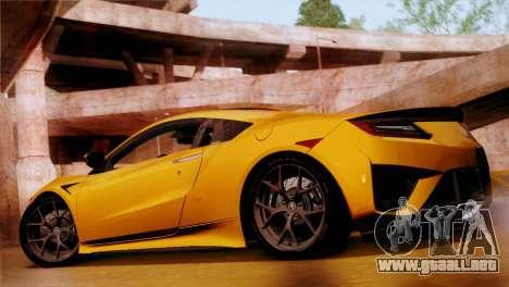 Acura NSX 2016 v1.0 SA Plate para GTA San Andreas left