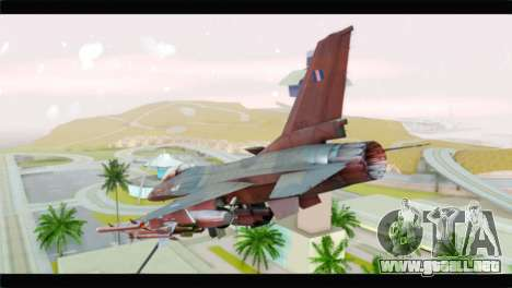 F-16C Hellenic Air Force para GTA San Andreas left