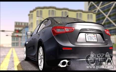 Maserati Ghibli 2014 para GTA San Andreas left
