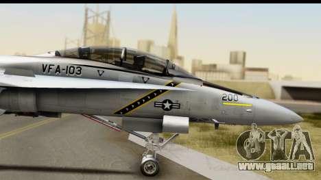 FA-18D VFA-103 Jolly Rogers para GTA San Andreas vista posterior izquierda