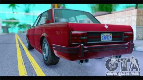 GTA 5 Benefactor Glendale Special IVF para GTA San Andreas left