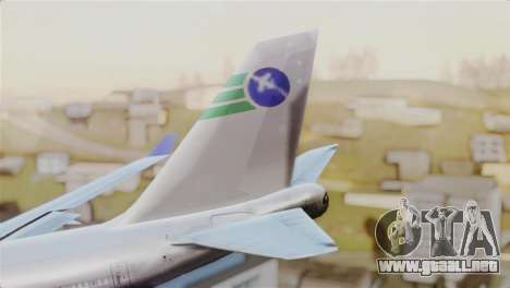 GTA 5 Caipira Airways para GTA San Andreas vista posterior izquierda