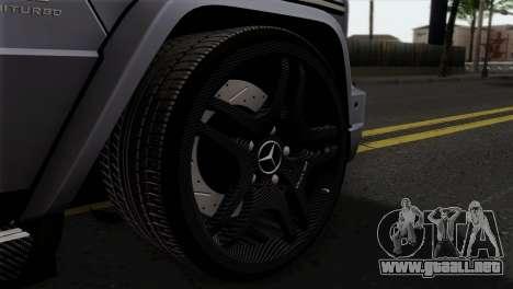 Mercedes-Benz G65 AMG Carbon Edition para GTA San Andreas vista posterior izquierda
