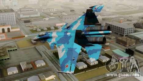 SU-33 Flanker-D Blue Camo para GTA San Andreas left