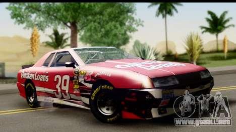 Elegy NASCAR para GTA San Andreas vista hacia atrás