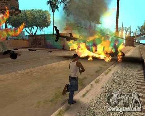 Rainbow Effects para GTA San Andreas quinta pantalla