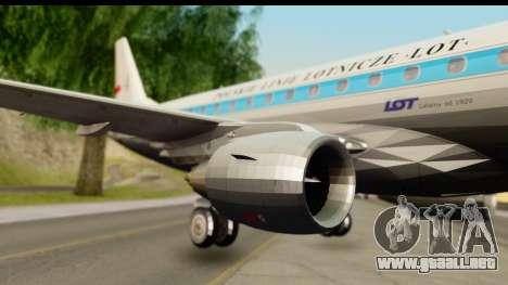 Embraer 175 PLL LOT Retro para GTA San Andreas vista posterior izquierda