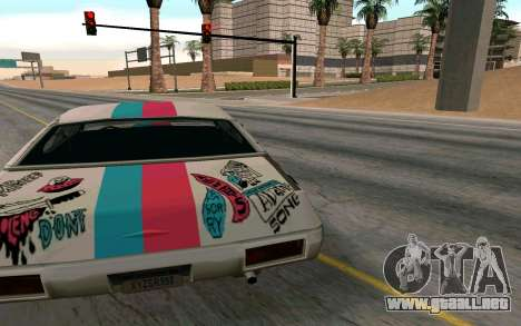 Clover Blink-182 Edition para GTA San Andreas vista posterior izquierda