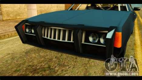 Clover Technical para GTA San Andreas vista hacia atrás