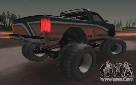 Nuevas texturas Monstruo Final para GTA San Andreas vista posterior izquierda