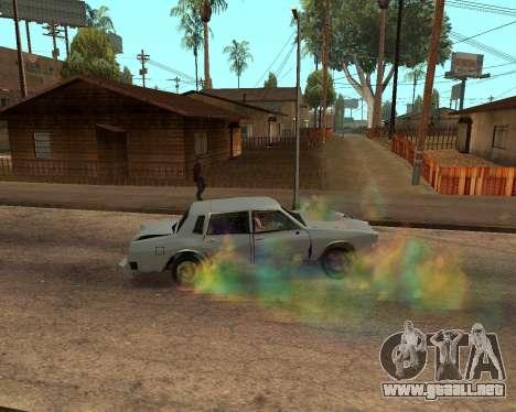 Rainbow Effects para GTA San Andreas octavo de pantalla