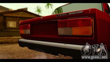 VAZ 21074 para GTA San Andreas vista hacia atrás