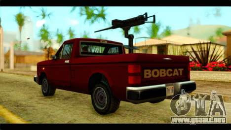 Bobcat Technical Pickup para GTA San Andreas left