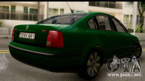 Volkswagen Passat B5 para GTA San Andreas left