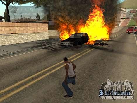 Sobredosis efectos (sin polvo) para GTA San Andreas sucesivamente de pantalla