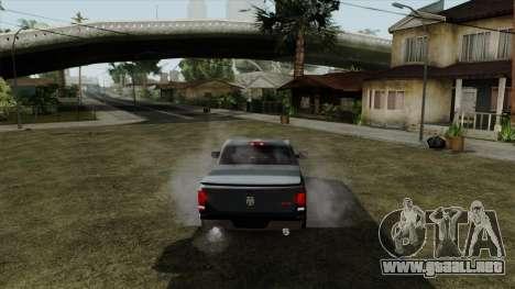 Dodge Ram QuickSilver para GTA San Andreas vista posterior izquierda