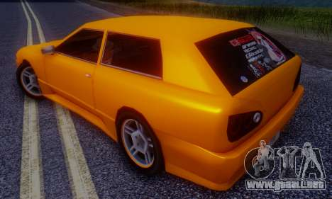 Elegy Hatchback v.1 para GTA San Andreas vista posterior izquierda