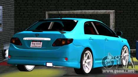 Toyota Corolla Altis para visión interna GTA San Andreas