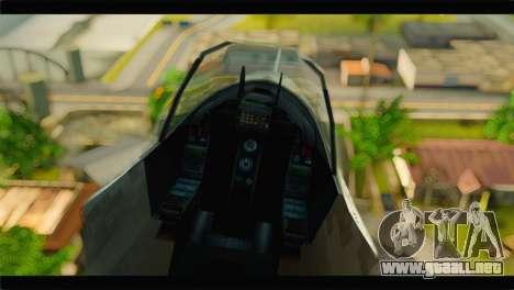 Mammoth Hydra v1 para GTA San Andreas vista hacia atrás