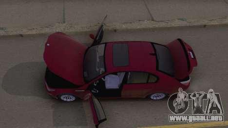 BMW M5 E60 2009 Stock para visión interna GTA San Andreas