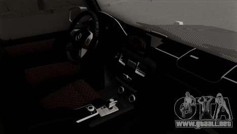 Mercedes-Benz G65 AMG Carbon Edition para la visión correcta GTA San Andreas